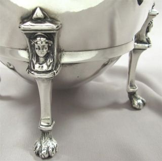 Victorian Figural Silver Plate Teapot,  Reed & Barton Paw Feet,  Egg Form,  Antique photo