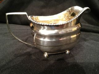 George Iii 1810 Sterling Silver Cream Pitcher William Burwash 206.  1 Grams photo