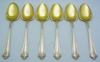 6 - Gorham Sterling Silver Ice Cream Spoons Plymouth photo