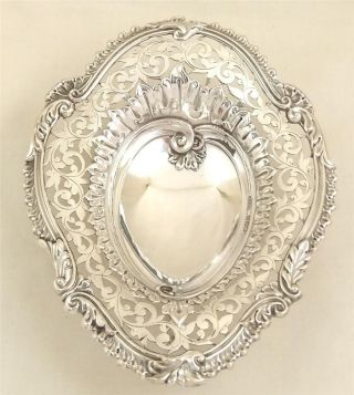 Anti Hallmarked Sterling Silver Heart Dish - 1894 photo