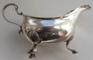 Rare - 1779 - Irish Silver Sauce Boat - George Iii - 136 Grams photo