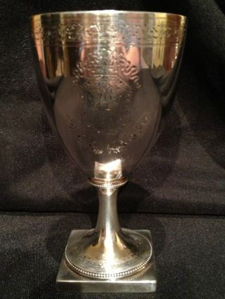 George Iii 1787 Sterling Silver Goblet John Scholfield 233.  5 Grams photo