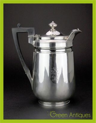 Antique 19thc Georgian Solid Silver Coffee Pot,  John Emes,  London C.  1807 photo