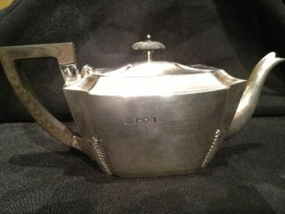 Edward Vii 1906 Sterling Silver Tea Pot W.  Hutton & Sons Ltd 251.  5 Grams photo