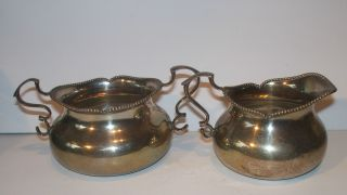 Canadian Sterling Silver Sugar Bowl And Milk Cream Jug P W Ellis Toronto Canada photo