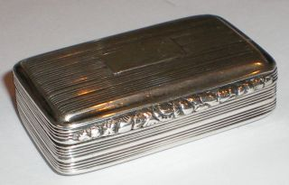 Antique Georgian Silver Snuff Box Birmingham 1829 Thomas Shaw Condition Nr photo