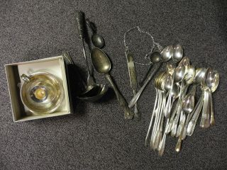 Vintage Silver Plated Flatware Pieces And Others photo