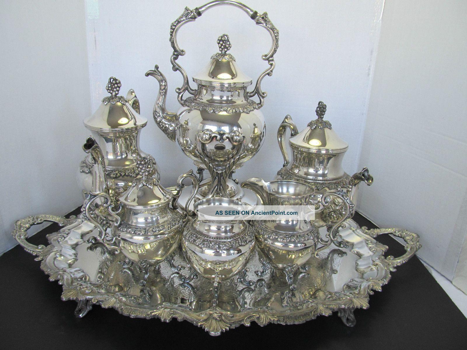 7 - Pc.  Magnificient Goldfeder Tea & Coffee Set - Grapes & Vine Pattern Tea/Coffee Pots & Sets photo