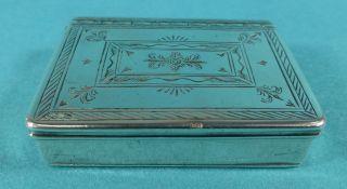 Rare Georgian Sterling Silver Snuff Box George Ii Maker Rc London 1738 photo