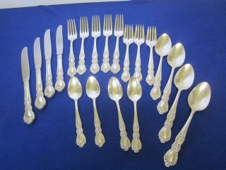 1847 Rogers Bros Is Heritage Silverplate Flatware Set - 19 Pieces photo