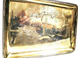 Antique Black Starr & Gorham Sterling Silver Rectangular Vanity Tray/plate photo