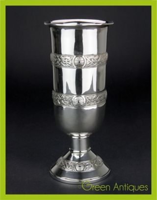Antique 20thc Irish Solid Silver Flower Vase,  Edmond Johnson,  Dublin C.  1910 photo