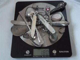 Vintage Job Scrap / Useable Solid Silver 180 Grams / 5.  78 Troy Oz photo