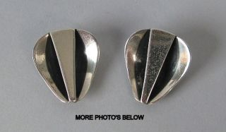 Rebajes Art Deco Sterling Silver Earrings photo