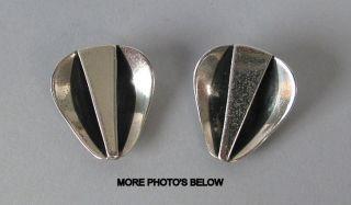 Rebajes Art Deco Sterling Silver Earrings photo