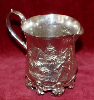 Victorian Solid Silver Jug London ++ 1848 photo