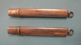 Set Of 2 Sterling Silver Asprey Pencils 1907 Charles & George Asprey England photo