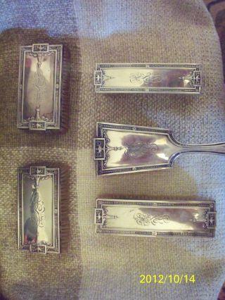 Gorham Sterling Silver 5 - Piece Brush Set - - With Hallmarks photo