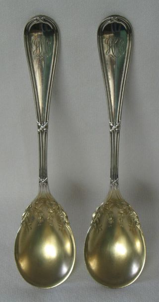 Washington Dominick & Haff Sterling Silver Egg Spoon Set Of 2 Theodore B.  Starr photo