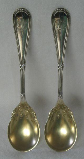 Washington Dominick & Haff Sterling Silver Egg Spoon Set Of 2 Theodore B.  Starr photo
