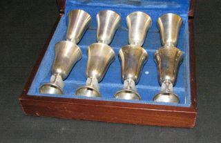 Manchester Sterling Silver Cordial Cups Set Of 8 In Box photo