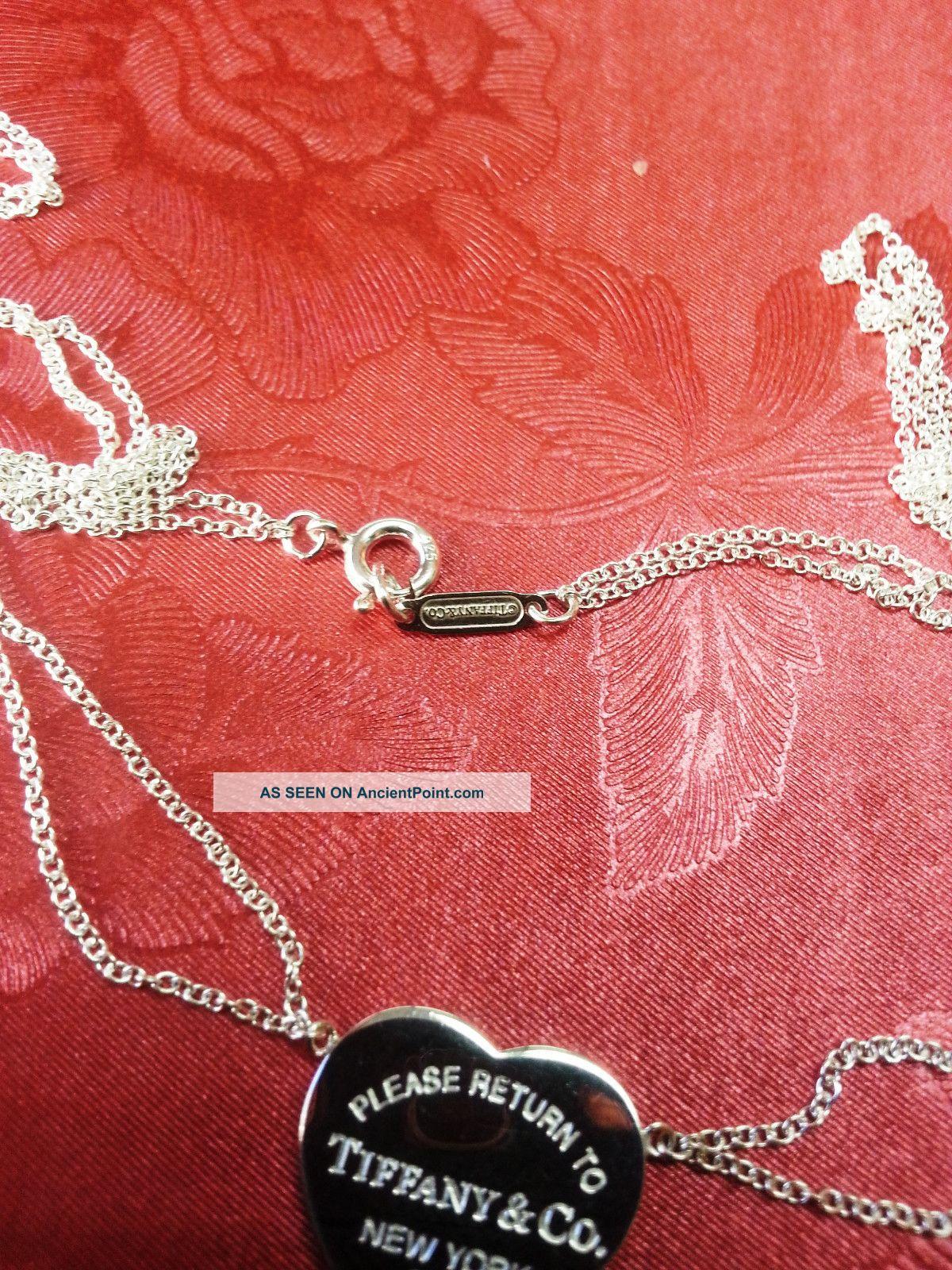 Tiffany Co Return To Tiffany Heart Tag Double Chain Necklace