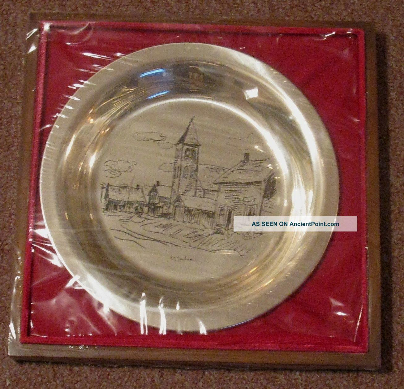 1976 Franklin Mint Sterling Silver Plate A.  Yjackson