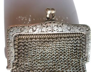 Sterling Silver Victorian Purse 51 Grams photo