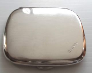 Hm Solid Sterling Silver Ladies Cigarette Case Sampson Mordan 1919 Nr Mint Marie photo