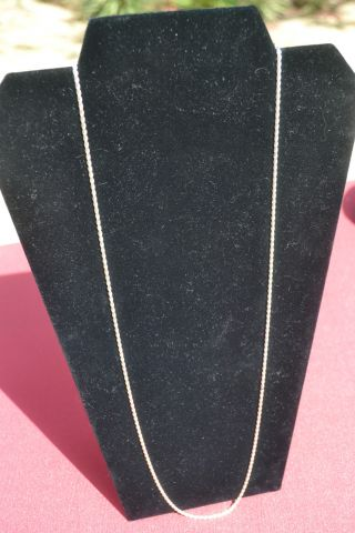 Sterling Silver Necklace - Rope Chain (30 Inches) photo