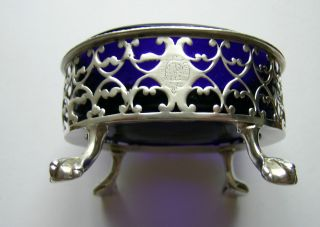 A George Iii Silver Salt Cellar,  Sheffield,  C.  1773,  Extremely Rare Marks photo