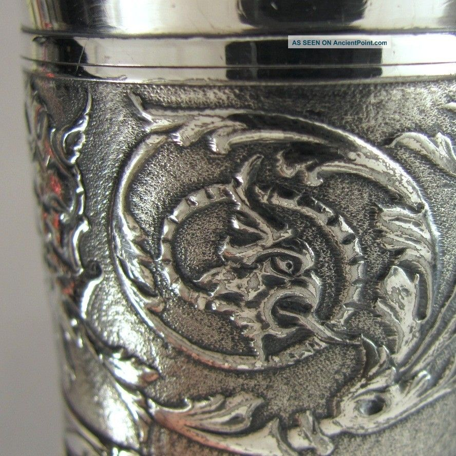 Reed & Barton Silver Plate Gargoyle Gothic Griffin Toothpick Holder,  Green Man Other photo