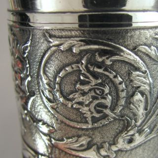 Reed & Barton Silver Plate Gargoyle Gothic Griffin Toothpick Holder,  Green Man photo