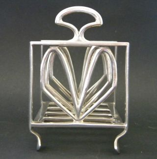 Antique English Arts & Crafts Sterling Silver Lover ' S Toast Rack 1904 Repair photo