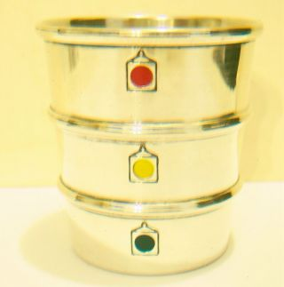 Art Deco Gorham Sterling Silver Stoplight Shotglass Jigger 31/2 Oz Excellent photo