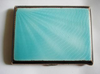 Copper,  Brass & Silver Enamelled Cigarette Case photo