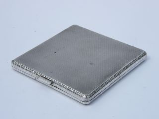 Heavy Solid Silver Cigarette Case 129g Hm Birmingham 1926 Mappin & Webb - V.  Good photo