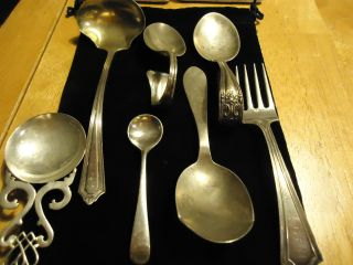 Huge Vintage Silver Forks@spoons,  Over 4 Ounces Of Silver - All Hallmarked photo