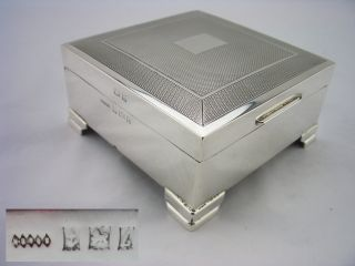 Vintage Silver Cigarette Box - Birmingham 1960 - H Brothers photo
