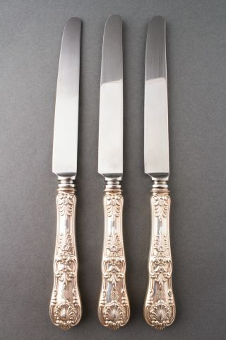 "Tiffany & Co.  English King Sterling Silver 10 1/4"" Set Of 3 Knives photo"
