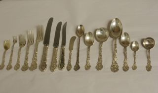 192 Pc.  Versailles By Gorham Sterling Silver Flatware Set 16 Pc.  Pl.  Set Svc 12 photo