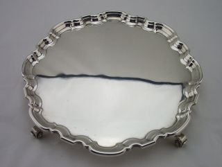Vintage Silver Salver Sheffield 1939 - 12oz - Atkin Brothers photo