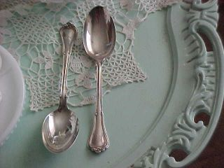 2 Large Gorham 1903 Norfolk Sterling Silver Serving Spoons photo