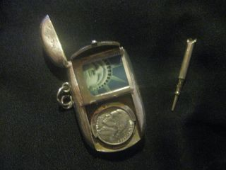 Vintage Antique Victorian Sterling Silver Sovereign/vesta/pencil Chatelaine Fob photo