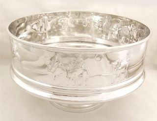 Antique Hallmark Sterling Silver Pedestal Bowl/dish - 1903 - 507g Camels & Wise Men photo