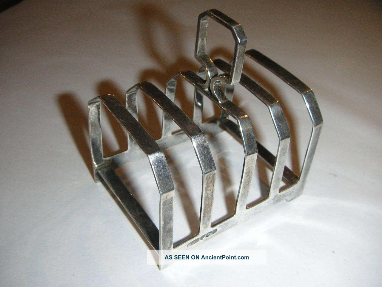 Silver Art Deco Toast Rack By Charles William Fletcher 1933 Other photo