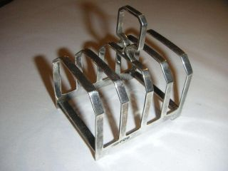 Silver Art Deco Toast Rack By Charles William Fletcher 1933 photo