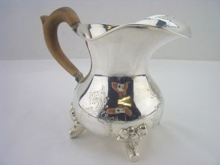 Stunning Silver Creamer 1890c 7oz 13 Loth Germanic Scroll Theme photo