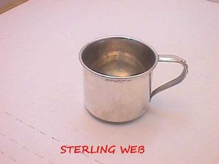Antique Sterling Silver Infant Baby Cup By Web Nr photo