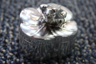 Authentic Tiffany & Co.  Sterling Silver Frog Pill Box 925 Italy photo